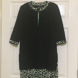 Ming Wang Sleeveless Dress with Jacket